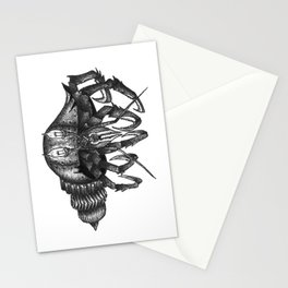 Steampunk angry crab Stationery Cards