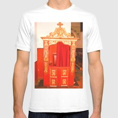CONFESSIONAL Mens Fitted Tee White SMALL