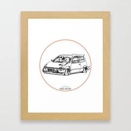 Crazy Car Art 0211 Framed Art Print
