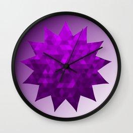 Kwan Yin's Star | Purple Flame | Compassion Wall Clock