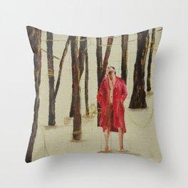 juguemos en el bosque Throw Pillow