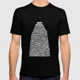 The Black Bunny of Doom in his natural habitat T-shirt