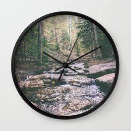 Just Around the Riverbend Wall Clock