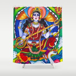Saraswati Goddess Shower Curtain