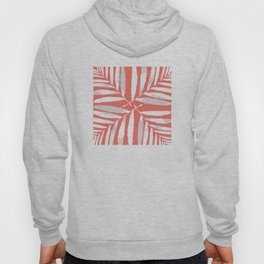 Geometric New Living Coral pattern autumn fall tropical Palm leaves , society6 Hoody