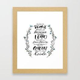Queen & Bride Framed Art Print