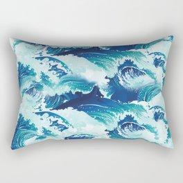 Big rushing sea or ocean waves design Rectangular Pillow