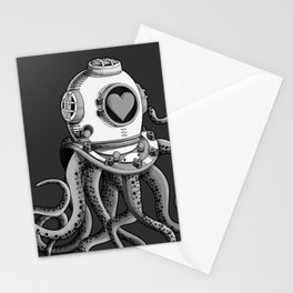 I'm falling in love with you? (Black and white) Stationery Cards