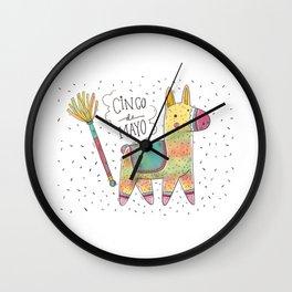 Cinco De Mayo Pinata Wall Clock