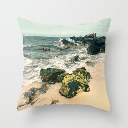 Last Day At The Beach 2016 Throw Pillow