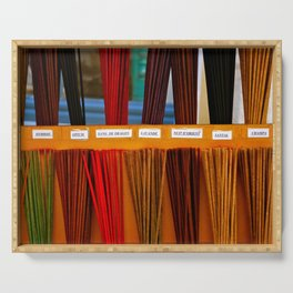 Colorful Incense Sticks Serving Tray