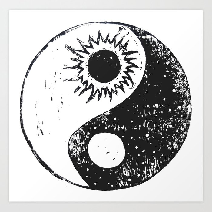 Yin Yang Symbol Art Print By Dkelleyart Society6