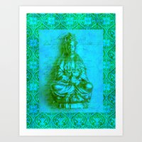 budi satria kwan Art Prints featuring Jade Kwan Yin by Jan4insight