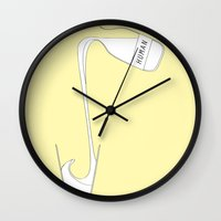 human Wall Clocks featuring human by ROBOPROPHET
