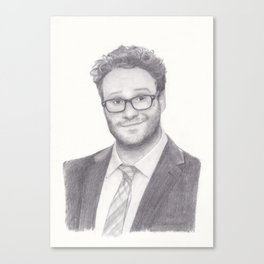 Seth Rogen Pencil drawing Canvas Print