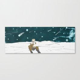 Falling stars for Curiosity Canvas Print