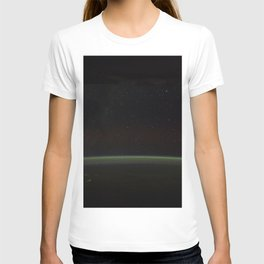 Comet Lovejoy is visible near Earths horizon in this nighttime image photographed by NASA T-shirt