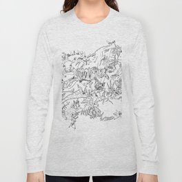 Very detailled surrealism sketchy doodle ink drawing Long Sleeve T-shirt