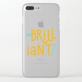 Oh, brilliant! (Doctor Who) Clear iPhone Case