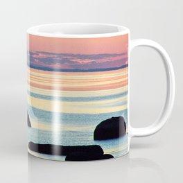 Circle of Rocks and the Sea at Dusk Coffee Mug