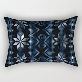 Blue Ugly Christmas Sweater Rectangular Pillow