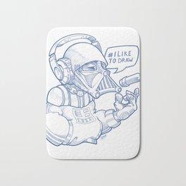 i Like To Draw Bath Mat