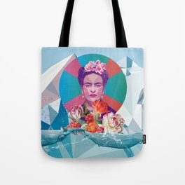 Bright Blue Times Tote Bag
