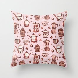 Percolator Pink Throw Pillow