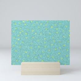 checks in mint Mini Art Print