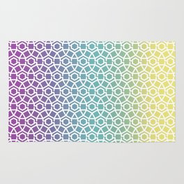 Gravity Tesselation Rainbow Rug