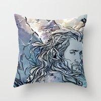 fili Throw Pillows featuring The Hobbit - Fili by lorna-ka