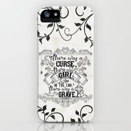 Beautiful Creatures - Grave - White iPhone Case