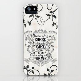 Beautiful Creatures - Grave - White iPhone Case
