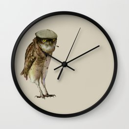 trendy owl Wall Clock