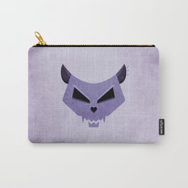 Purple Funny Evil Cat Skull Carry-All Pouch