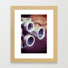 Vintage movie camera Framed Art Print