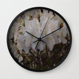 White Flowers 1 Wall Clock