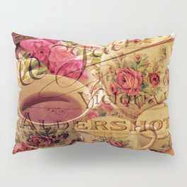 Teacup and Roses 3 Pillow Sham