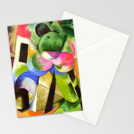 """Franz Marc """"Small Composition II also known as House with Trees) (Haus mit Bäumen) Stationery Cards"""
