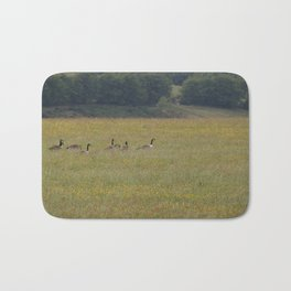 Canadian Geese in an English Meadow Bath Mat