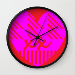 Manderina red Rhonda Wall Clock