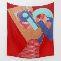 rio Wall Tapestries featuring Gerald Laing in Rio by Fernando Vieira