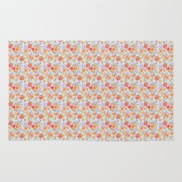 Flower Watercolor Pattern Rug