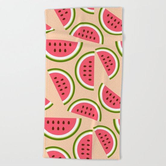 Watermelon pattern Beach Towel