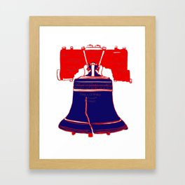 Liberty Bell in Patriotic USA Flag Red White and Blue Framed Art Print