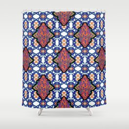 Indian Embroidery Shower Curtain