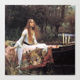 The lady of shalott painting  Canvas Print