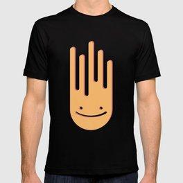Strange splashing smiley T-shirt