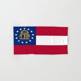 flag of the state of Georgia-Georgian,Gone with the wind,Atlanta,Colombus,Macon,Scarlett o'Hara,Usa Hand & Bath Towel