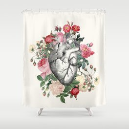 Roses for her Heart Shower Curtain